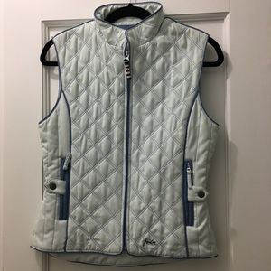 Joules Quilted Vest - Light Blue/Navy (XS)